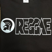 REGGAE T SHIRT BROWN & WHITE